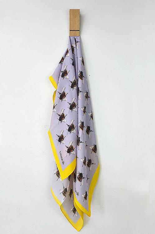 large silk bee scarf