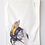 Thumbnail: bee and flower tea towel