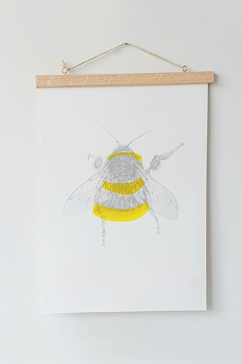 bee riso print A3 size