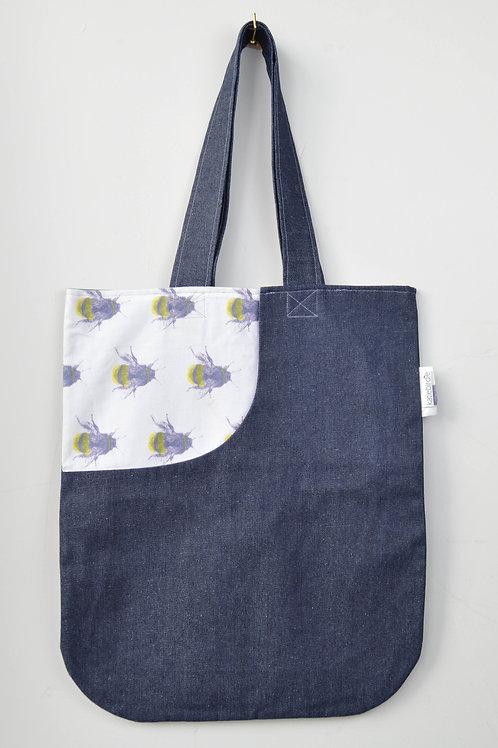 screen print bee tote bag