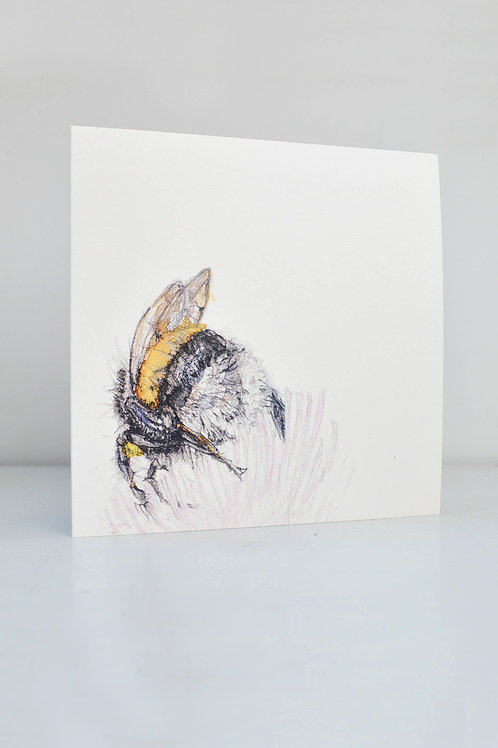 bee and flower card