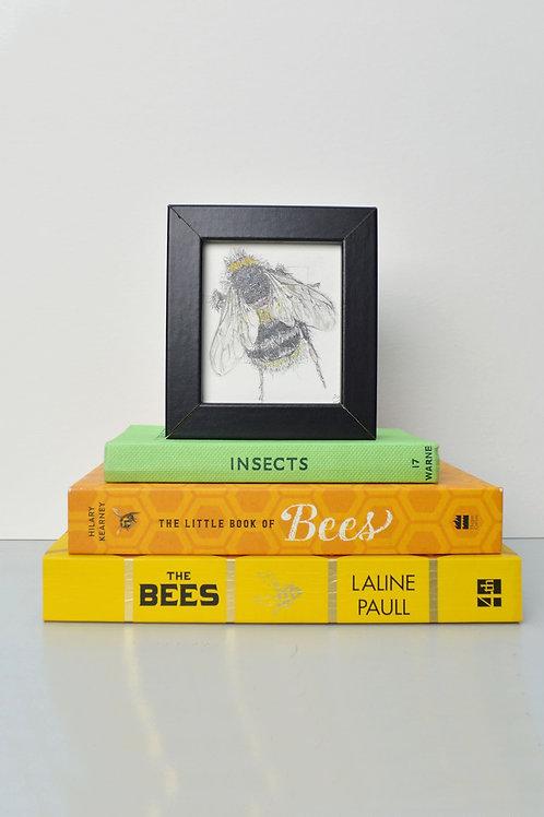 tiny framed bee drawing (III)