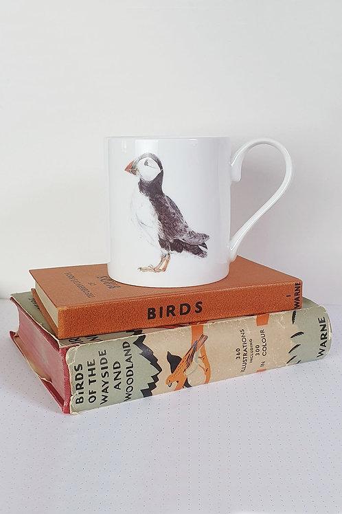puffin fine bone china mug