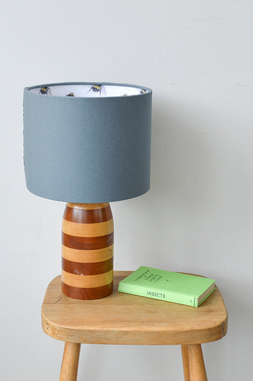 lampshade with bee pattern lining