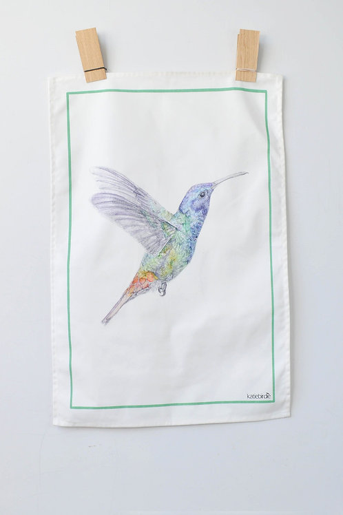 hummingbird tea towel