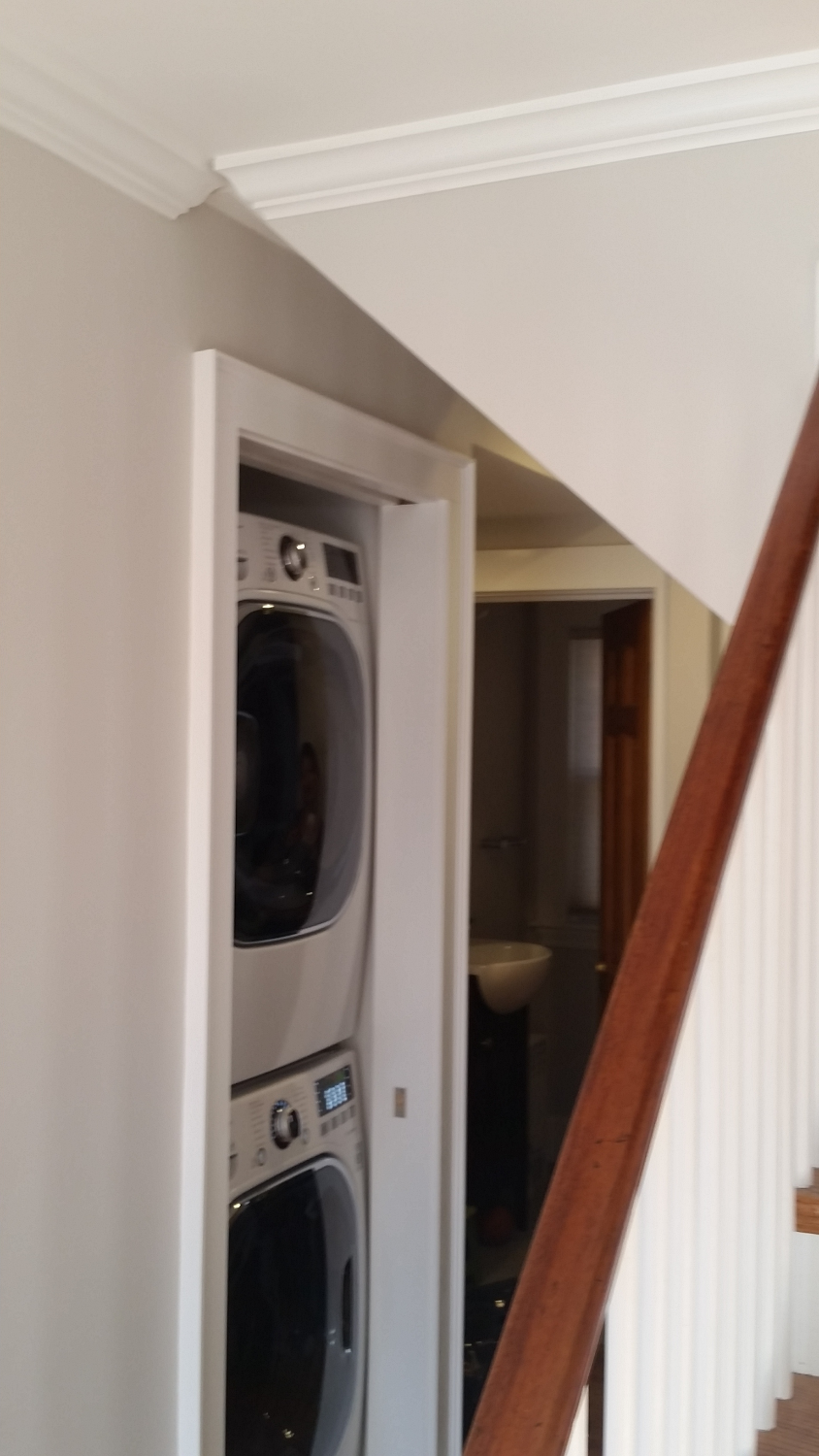 LG Laundry installed in a closet