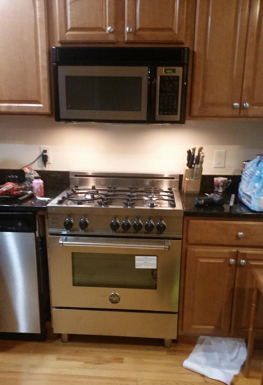 Bertazzoni stove installed