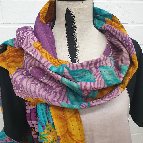 #1. Hand stitched Kantha scarf