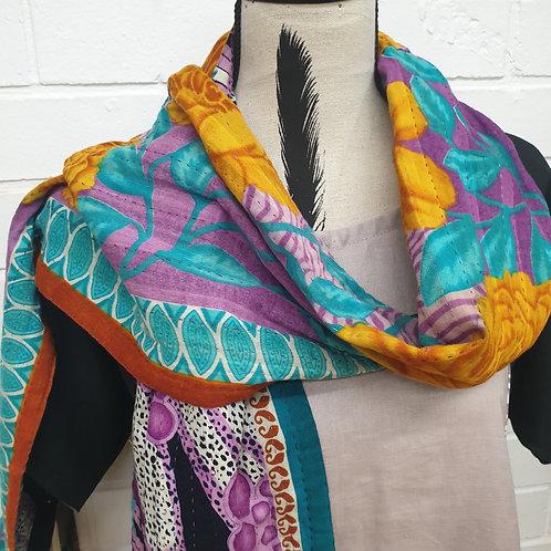 #4. Hand stitched Kantha scarf