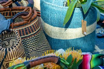 Natural fibre baskets
