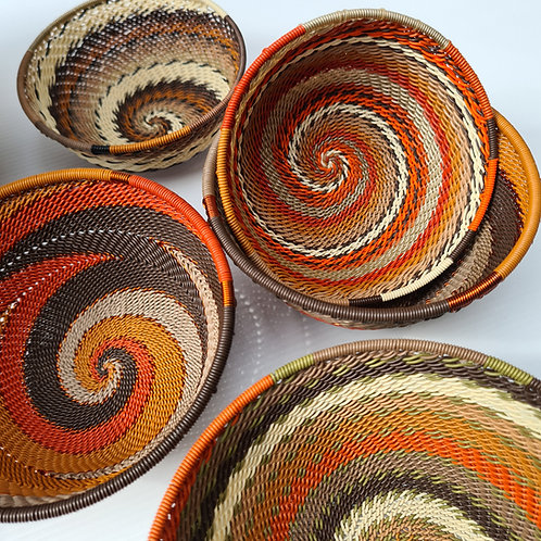 Telephone wire bowl - Earthy large