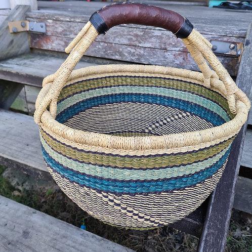 *African Basket - teal stripe