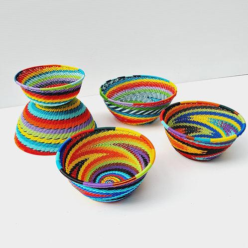 Telephone wire bowl - Rainbow medium