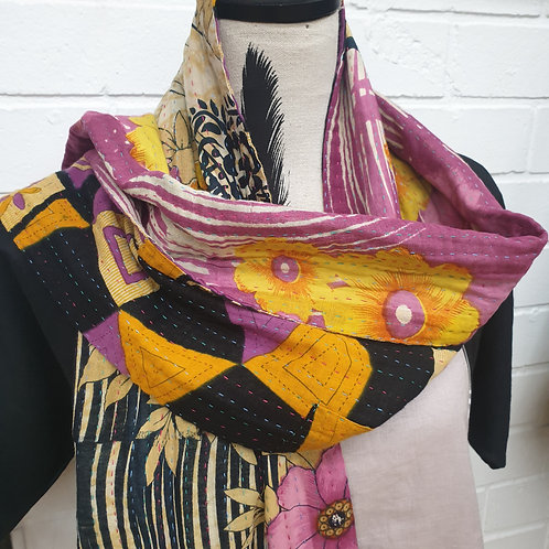 #2. Hand stitched Kantha scarf