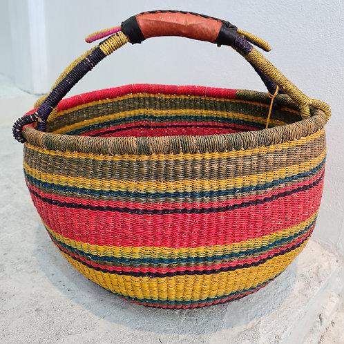 African Round Market Basket