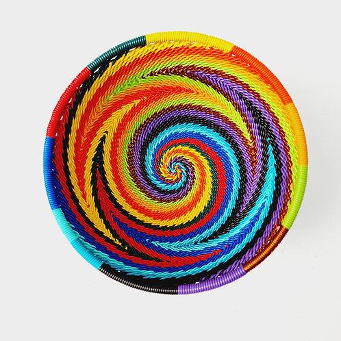 Telephone wire bowl - Rainbow large