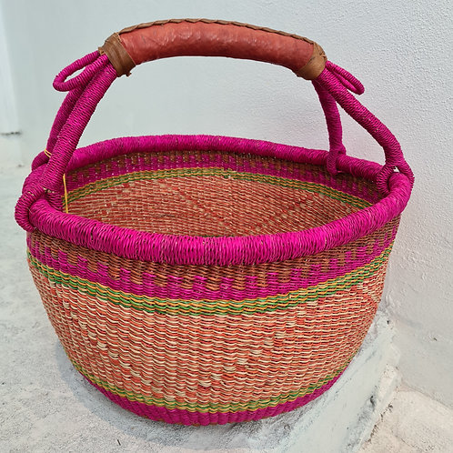 African Round Basket - Tooty fruit