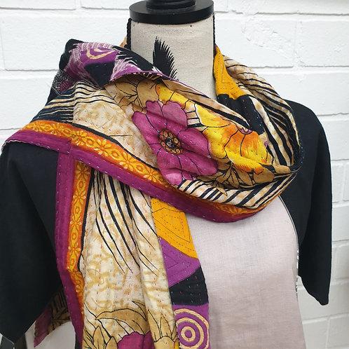 #7. Hand stitched Kantha scarf