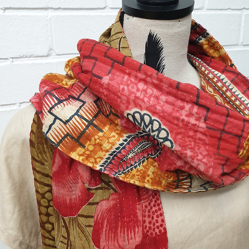 #3. Hand stitched Kantha scarf