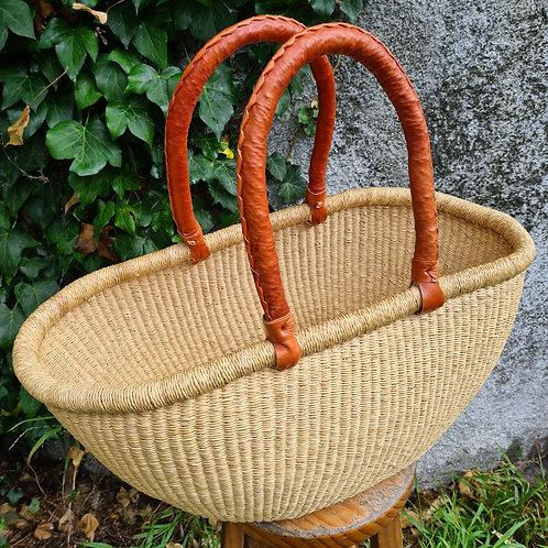 Natural oval basket