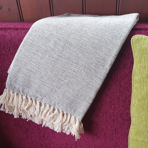 Kenyan Cotton Throw - smoke grey