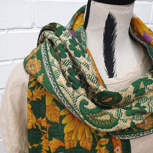 #5. Hand stitched Kantha scarf