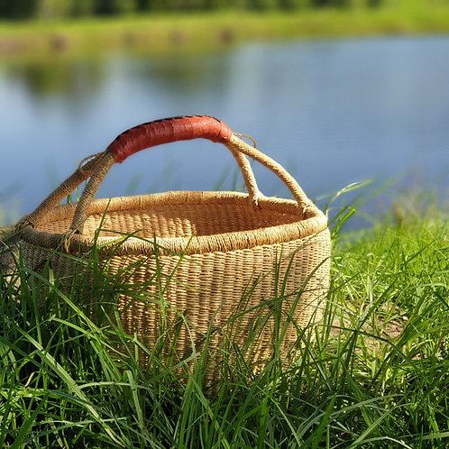 Natural Baskets Tan Handles.