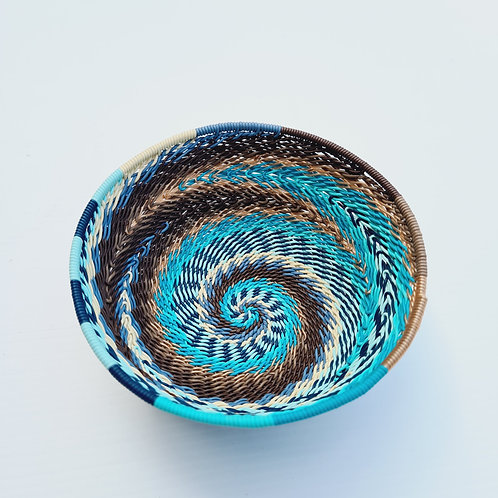 Blue/earth -Telephone wire bowls small