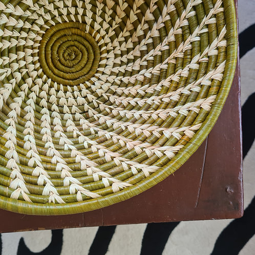 Rwandan Bowl - green spiral