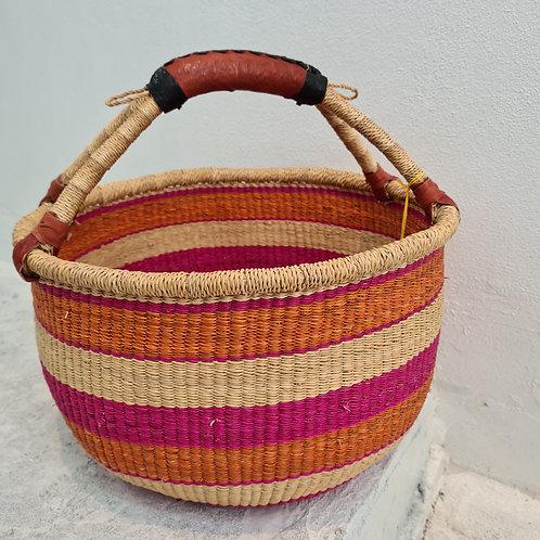 Round stripe African Basket - sunrise