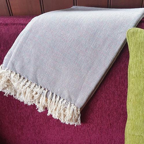 Kenyan Cotton Throw - blue