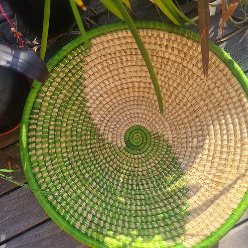 #3 Rwandan bowl green & natural