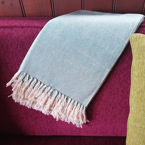 Kenyan Cotton Throw - teal