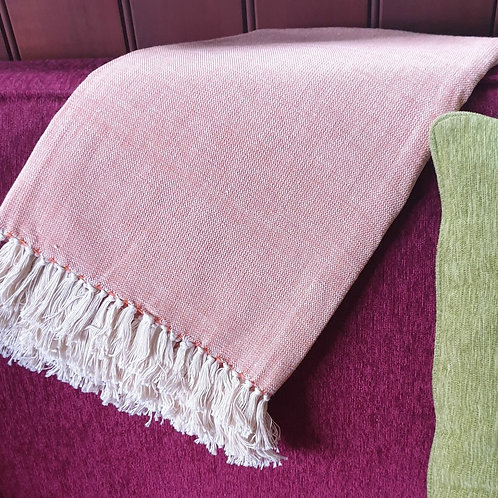 Kenyan Cotton Throw- apricot