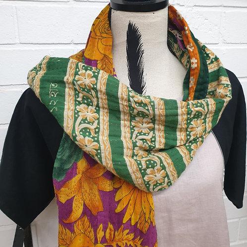 #6. Hand stitched Kantha scarf