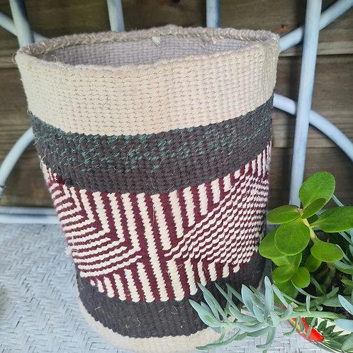 Wool weave Kiondo basket