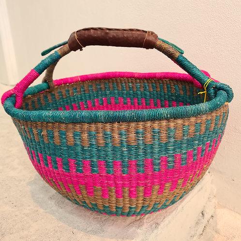 African Round Basket