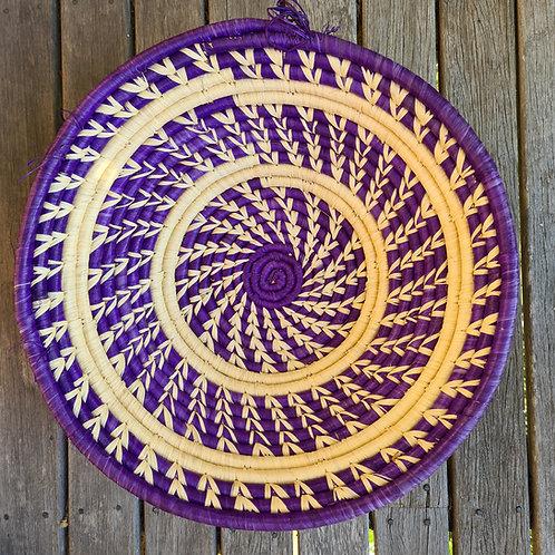 Rwandan Bowls - purple feather