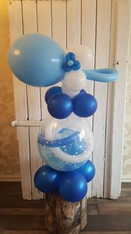 Gave i ballong med tilpasset dekor