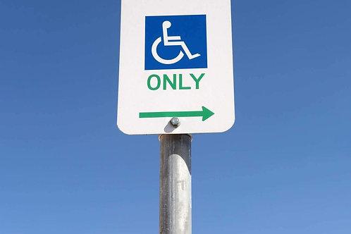 Disability parking sign - Op 01