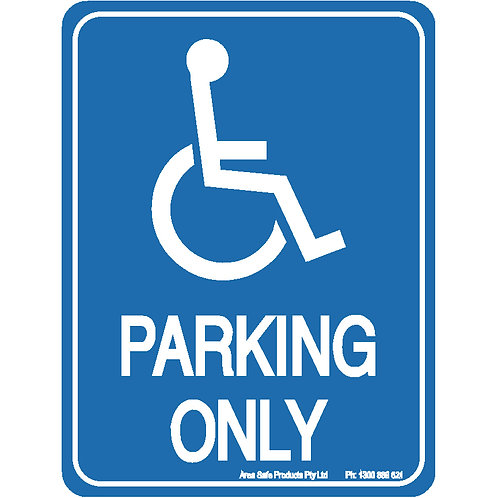 Disabled parking sign - Op 02