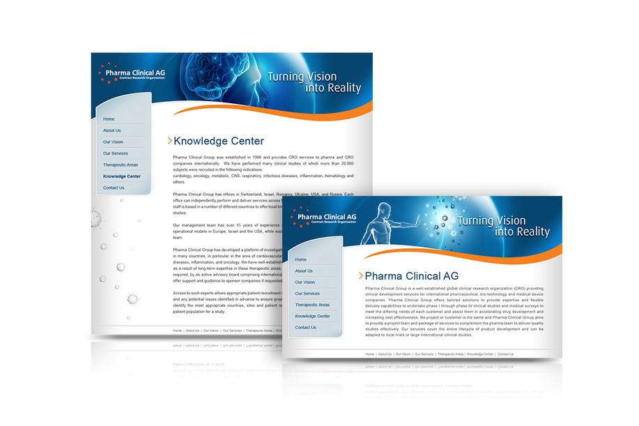 עיצוב אתר Pharma Clinical AG
