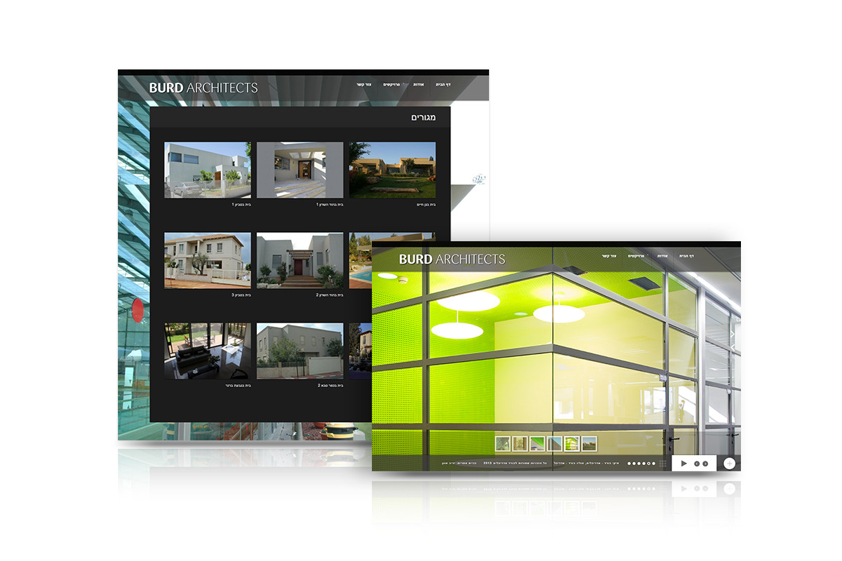 עיצוב אתר בורד אדריכלים