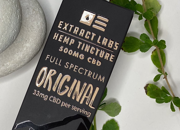 Extract labs Hemp Tincture Original | Full Spectrum | 500 mg