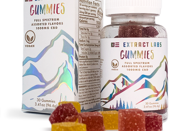 Extract Labs Organic Gummies | Full Spectrum | 1000mg CBD