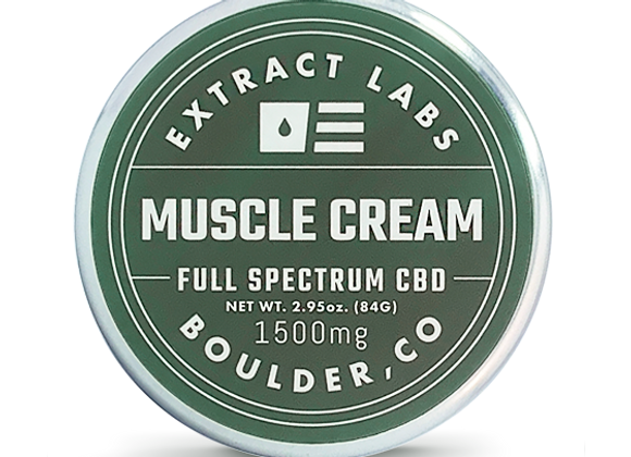 Extract labs Muscle Cream | Full Spectrum | 1500mg CBD