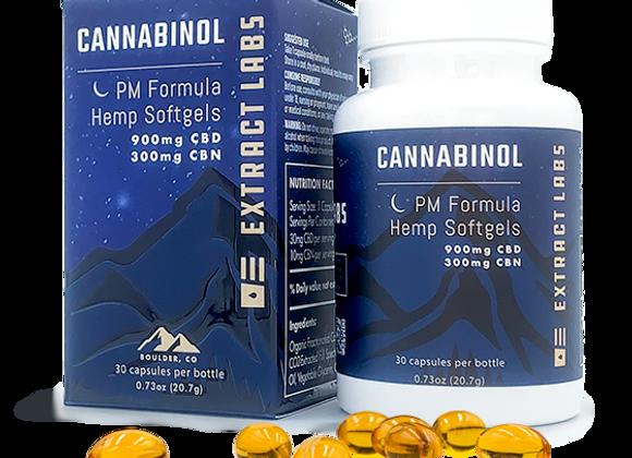 Extract Labs Cannabinol | Hemp Softgel | 900 mg CBD | 300mg CBN | PM Formula