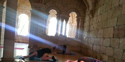 Rays of light at The Monastery this morning