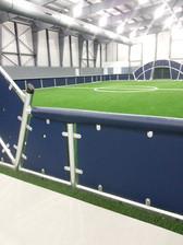 SportsVenuePadding.com | Indoor Soccer Arena | Wall Pads & Mats | Rail Pads | Outdoor soccer field | Facility Padding | Graphic Printing