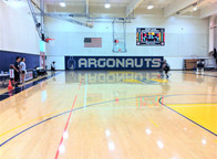 SportsVenuePadding.com   Basketball court wall padding